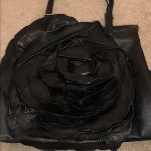 Black Flower Valentino Bag